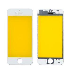 Vidro de 4.0 polegadas para iphone 5 5C 5s tela de toque lcd dianteira painel de toque de vidro vidro exterior lente digitador + frame frete grátis