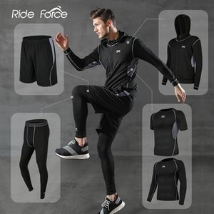 5 Pcs Set Men's Tracksuit Gym Fitness Compression Sports Suit Clothes Running Jogging Sport Wear Exercise Workout Tights 201202