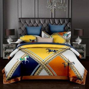 Роскошные 3D печатные комплекты постельных принадлежностей H-HORE SERVICE мода удобный король мрамор одеяла подушка для корпуса спальни украшения