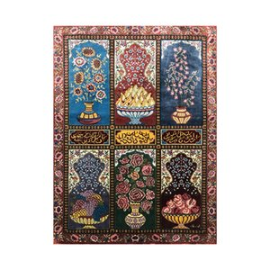 36x50cm Flower Colorful Tapestry Hanging Hand Weave Tapestries Wall Silk Carpets Dorm Decor
