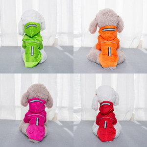 Dog Raincoat Waterproof Hood Small Pet Rain Coat Puppy Cat Tactic Rainwear Double Deck With Pocket Snap Button 14 5sl G2