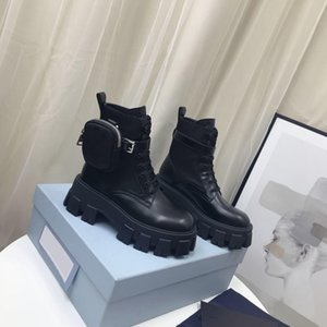 Women Designers Rois Boots Ankle Nylon Combat Boot and Martin Boots Designers winter Martin ankle nylon bouch attached ankle with box
