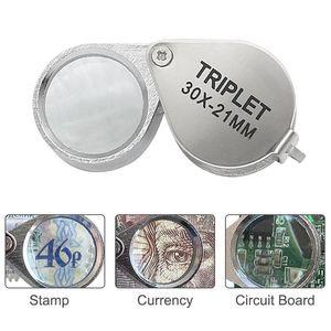 Mini 30,20,10x21mm Jewelers Eye Loupe Magnifier Magnifying Glass for Jewelry Diamond 01-33