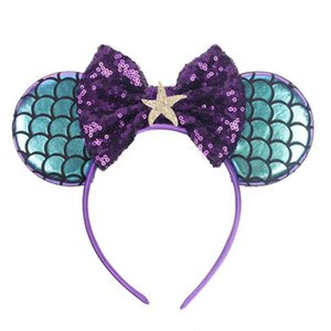 Pullu Yay Bandı Mermaid Ilmek Hairband Çocuk Yay Glitter Saç Bandı Çocuklar Moda Renkli Saç Halkası Kızlar Saç Aksesuarları HWF4119