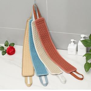 Body Wash Scranges d'éponges pour la brosse corporelle pour le dos Exfoliant Widfloth Accessoires pour Baths Ceinture Douche Brosses de douche épuisante Sponge GWA3238
