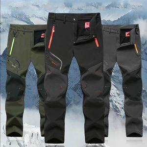 Erkekler Kış Açık 2020 Casual Trekking Yürüyüş Rüzgar Geçirmez Yaz Erkek Pantolon Sıcak Artı Boyutu Kamp Tırmanma Run Erkek Pantolon