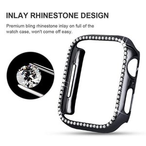 Diamond Watch Cover Luxury Bling Crystal PC Cover for Apple Watch Case Series SE 6 5 4 Case 44mm 40mm 42mm 38mm Band