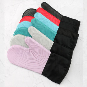 Silicone Oven Gloves Microwave Thicken Heat Proof Gloves Waterproof Bakeing Glove Table Placemat Mitt Pad Kitchen Tools 70pcs 83 O2