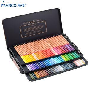 Marco Reffine 24 36 48Colors Oil Color Pencil Prismacolor Wood Colored Pencils for Artist Sketch Drawing School Office Supplies Y200428