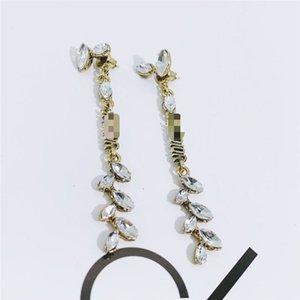 2020 New wheat ear necklace designer letter wings ear bone clip earrings luxury retro tassel ring accessories hot sale