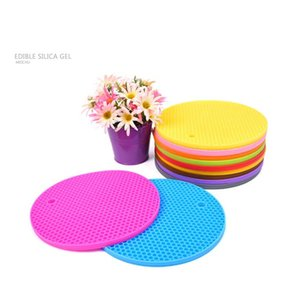 60G Silikon Petek Mat 15 Renkler Yuvarlak Silikon Placemat Disk Mat Kase Pot Mat DHL Ücretsiz Kargo