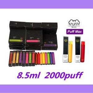 Factory direct supply Puff bars Max 2000 Puff Disposable Vapes E Cigarettes 1200mah Battery 8.5ml Disposable Vapes Pen