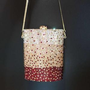 New Bridal Wedding crystal Purse Pearl Clutch Luxury Handbags Rhinestone Bag Metallic Diamonds Party clutches Q1116