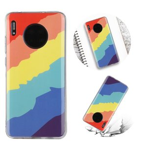 Rainbow Phone Case for Huawei Mate 30 Made of Soft TPU Size 15.6*7*0.6cm Net Weight 30g (Suitable for Model:MATE30)