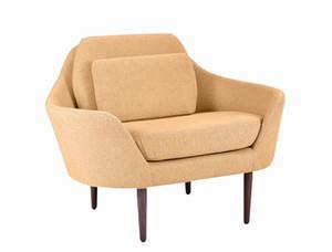 Light luxury fabric sofa Nordic living room simple single person sofa