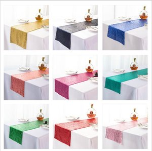 Sequins Table Runner Table Banner Sequin Decor Tablecloth Cloth Fabric Decoration Runners Party Decorations For Tables GWB3758