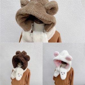 7ECJ6 шарф для мужчин и норки медведя вышивка меховой мех роскошная детская шапка шляпа SHL и негабаритная классическая проверка уха защитная крышка шалов