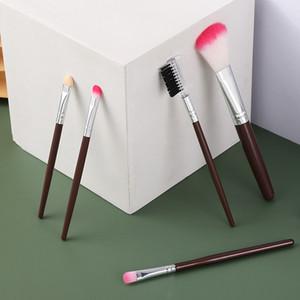 5pcs Makeup Brushes Set Eyeshadow Eyeliner Eyebrow Loose Power Foundation Lip Highlight Brush Cosmetic Tools