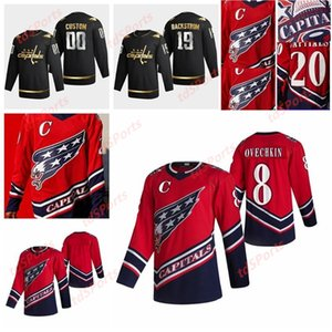 Capitales de Washington 2021 Jerseys de hockey rétro Retro Tyler Lewington Jersey Paul Ladue Justin Schultz Trevor Van Riemsdyn Customé