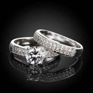 For the Rest of My Life, All Are You Wedding Couple Band Rings Simple Romantic CZ Zircon Pure Love Sweetie Men Women