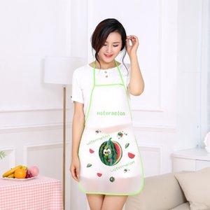 Delantal Femenino Femenino Fruta simple y lindo Hogar Cocina Trabajo Cocinar Impermeable y Abrigo Public Smock Adulto Delantal Femenino