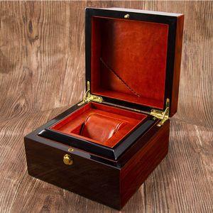 Premium Wooden Watch Box Single Gird Holder with Removable Cushion Showcase Jewelry Storage Box