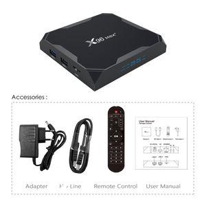 X96 MAX PLUS AMLOGIC S905X3 TV BOX 8K 2GB 4GB RAM 16GB 32GB 64GB ROM Двойной Wi-Fi 100M 1000M LAN Android 9.0