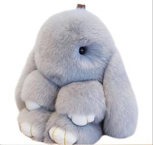 2019 nova bonito coelho de pelúcia pingente brinquedos preguiçoso de pele de coelho bonito coelho de pelúcia de jóias ornamentos mochila chaveiro