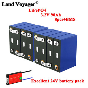 3.2V 90Ah battery pack LiFePO4 Lithium phospha Large capacity 12V 24V 48V Motorcycle Electric Car motor battery can earn 4S 8S BMS
