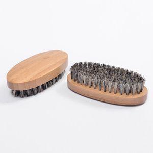 Натуральный кабан щетина Brish Beard для мужчин Бамбуковый массаж лица, который работает чудеса к расчесывать бороды и усы RRE2916