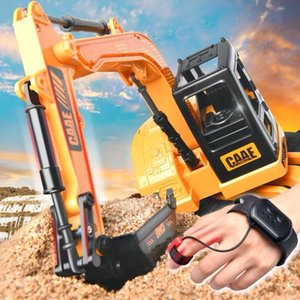 Watch induction remote control excavator multi channel simulation engineering vehicle toys