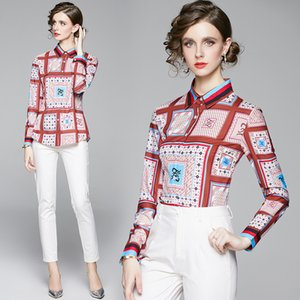 Printed New Shirt Long Sleeve High-end Women Blouse Spring Autumn Shirt Fashion Elegant Lady Shirt Quality Goods Tops