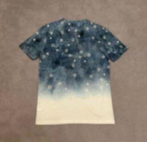 20ss Мужские футболки Tee Paris Письма Starry Sky Gradient Totem Print Одежда с короткими рукавами Рубашки мужчины Женщины настоящие новые