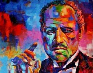 Godfather Pop Portre Sanat Ev Dekor Handpainted HD Baskı Yağlıboya Tuval Duvar Sanatı Tuval Resimleri, F2012030