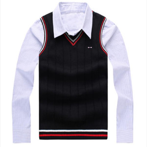 high quality Brand park Sweaters O-Neck Warm Pullover Men Casual Sweater vest Autumn Winter Knitwear Pull Homme eden Sleeveless