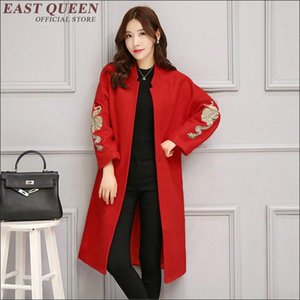 Winter coat women 2020 fashion trench coat for women red trench femme new arrivals womens windbreaker 1327