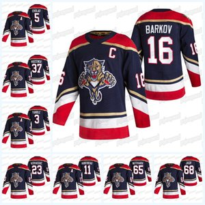 Florida Panthers 2021 Reverse Retro Jersey Carter Verhaeghe Aleksander Barkov Jonathan Huberdeau Aaron Ekblad Keith Yandle Anton Stralman