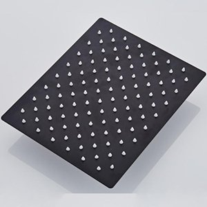 Langyo carré noir pluie en acier inoxydable Pomme de douche Ultrathin 2 mm 8 9 10 12 pouces Choix Bathroom Wall monté au plafond bbylxl bdebaby