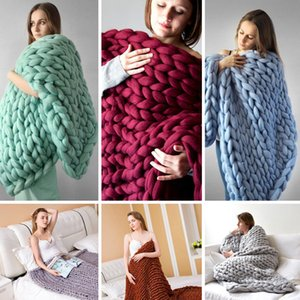 Sofa Blanket Hand-Woven Blankets and Throws Woollen Blanket Throw Warm Accessories Baby Supplies Furniture