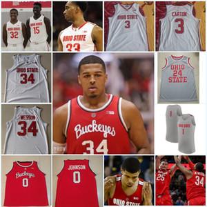Özel Ohio State Buckeyes Basketbol Forması Evan Turner 31 Seth Towns Jimmy Sotos Kyle Genç Harrison Hookfin Ohio State Basketbol Forması