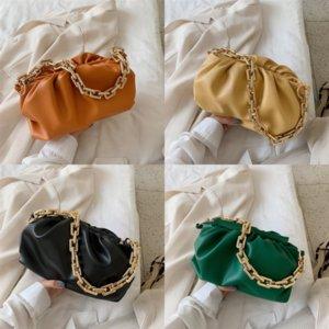 Sacos Hobos Femininos Novo Médio Dumpling Clip Crossbody Should Cloud Chain Bag Alto Qulaidade Moda Estilo Sacos Saco De Papel Nuvem Tamanho Verificação PA