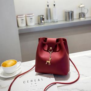 Hot Sale Small Women Bucket Bag For Handbags Women PU Leather Shoulder Bags Girls Drawstring Messenger Crossbody Bag