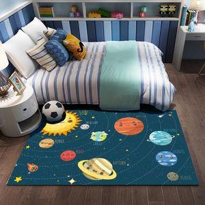Bedroom baby crawl cartoon mat home carpet children's room cartoon bedside blanket.