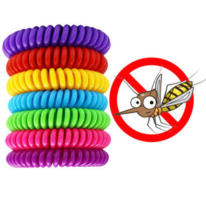 Mosquito Repellent Bracelet Multicolor Pest Control Bracelets Insect Protection Camping Waterproof Spiral Wrist Band Outdoor Indoor CCD3303