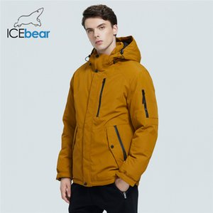 ICEbear autumn and winter new men's hooded coat warm men's cotton jacket fashion men's clothing MWD20853D 201118