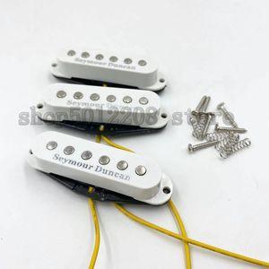 SEYMOUR DUNCAN PICKUP BLANCO 3 UNIDS / SET SSL-1 Puente y Pastillas de la bobina de Alnico Alnico y Medio y Cuello para la guitarra eléctrica de ST