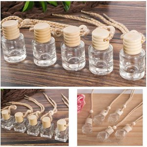Car Perfume Bottle Car pendant Perfume ornament air freshener for essential oils diffuser fragrance empty Glass bottle 3 Styles