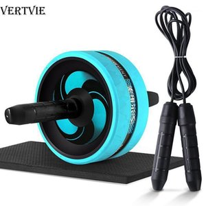 VERTVIE No Noise Abdominal Wheel Ab Roller with Mat 2 in 1 Ab Roller& Jump Rope For Arm Waist Leg Exercise Gym Fitness Equipment1