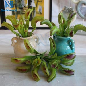 "NuoNuoWell 9.5"" Artificial Venus Flytrap Plant -Green Purple Pest Control Fake Succulent Plants Home Decor Display Bouquet Z1120"
