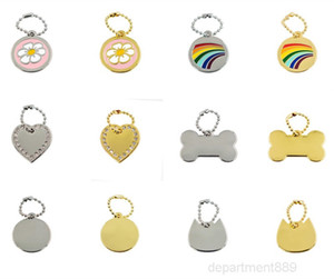 Metal Dog Cat ID Tag Nameplate Pet Anti-lost Pendant You Can Laser Engraved Name Telephone Number By Yourself OWF2983